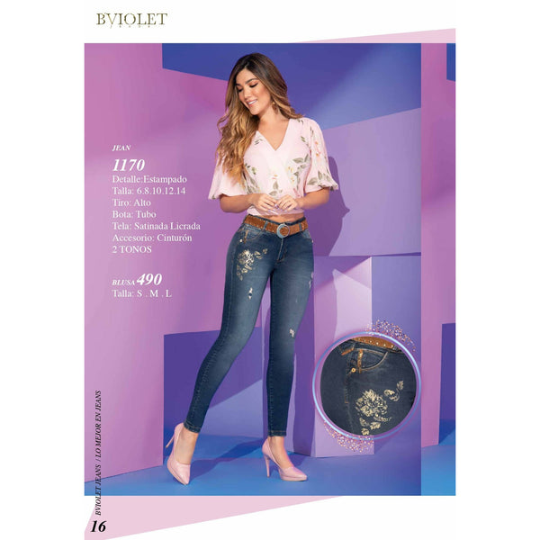 1170 100% Authentic Colombian Push Up Jeans by B'Violet - JDColFashion.com