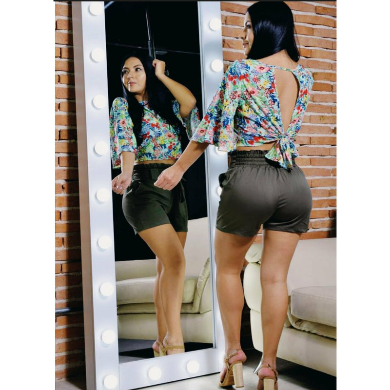 19253-Green 100% Authentic Colombian Short - JDColFashion.com