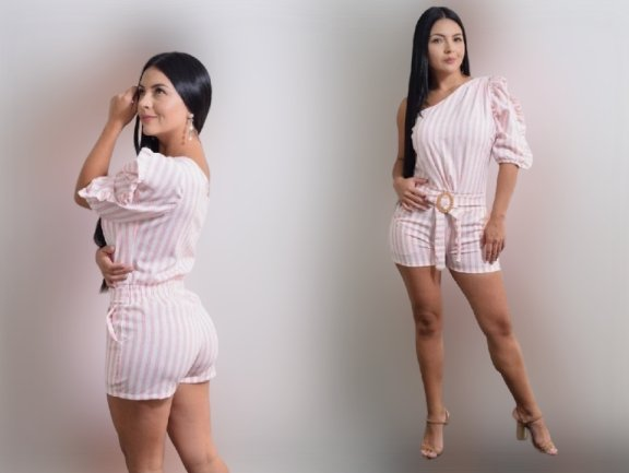 19425-Pink 100% Authentic Colombian Jumpsuit - JDColFashion.com