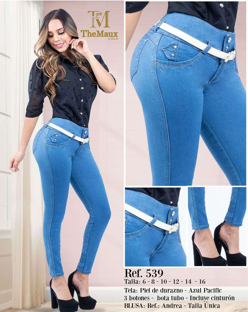 539 100% Authentic Colombian Push Up Jeans by Maux Jeans - JDColFashion