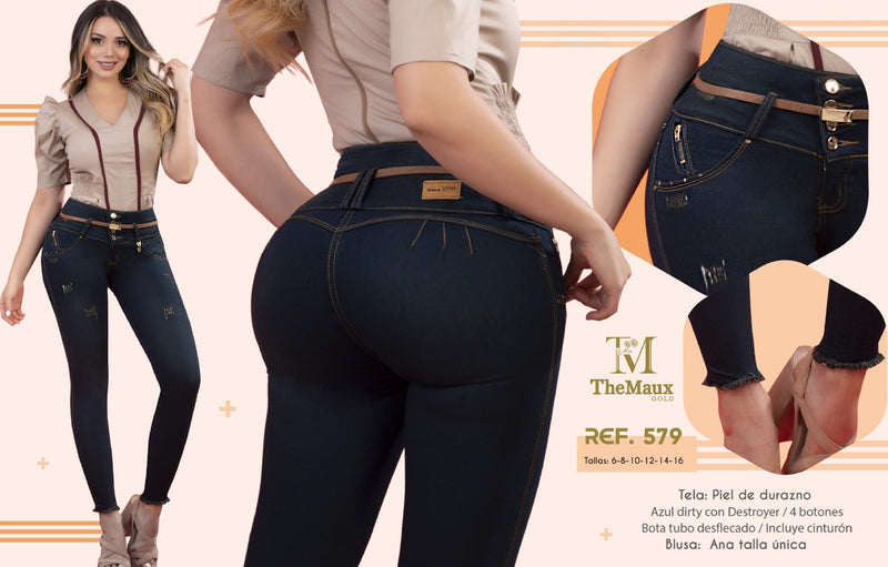 579 100% Authentic Colombian Push Up Jeans by Maux Jeans - JDColFashion