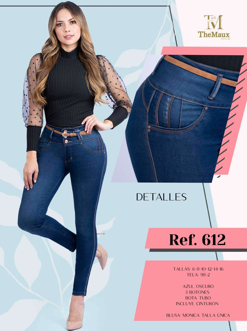 612 100% Authentic Colombian Push Up Jeans by Maux Jeans - JDColFashion