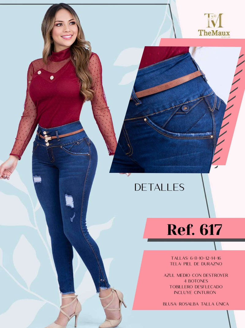 617 100% Authentic Colombian Push Up Jeans by Maux Jeans - JDColFashion