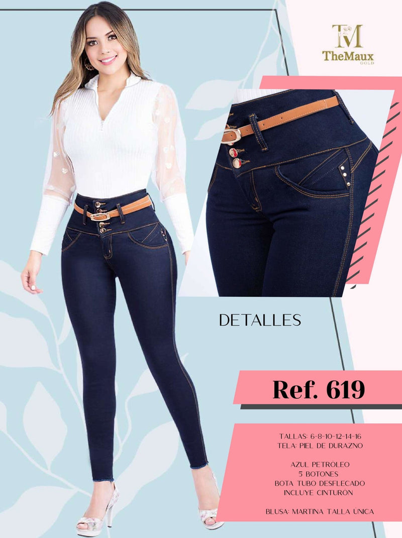 619 100% Authentic Colombian Push Up Jeans by Maux Jeans - JDColFashion