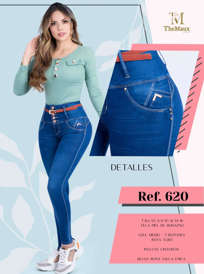 620 100% Authentic Colombian Push Up Jeans by Maux Jeans - JDColFashion