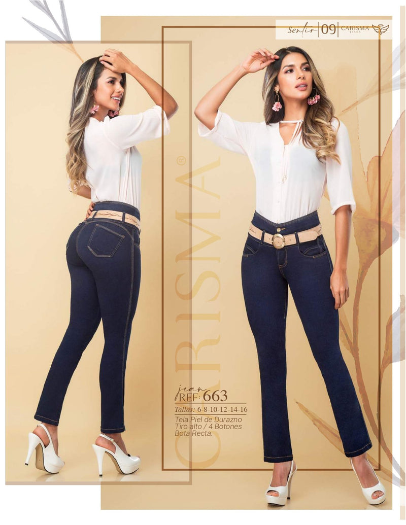 663 100% Authentic Colombian Push Up Jeans by Carisma Jeans - JDColFashion