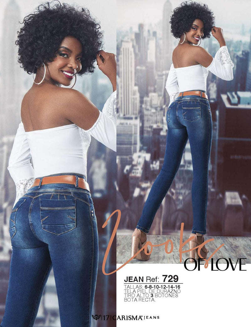 729 100% Authentic Colombian Push Up Jeans by Carisma Jeans - JDColFashion
