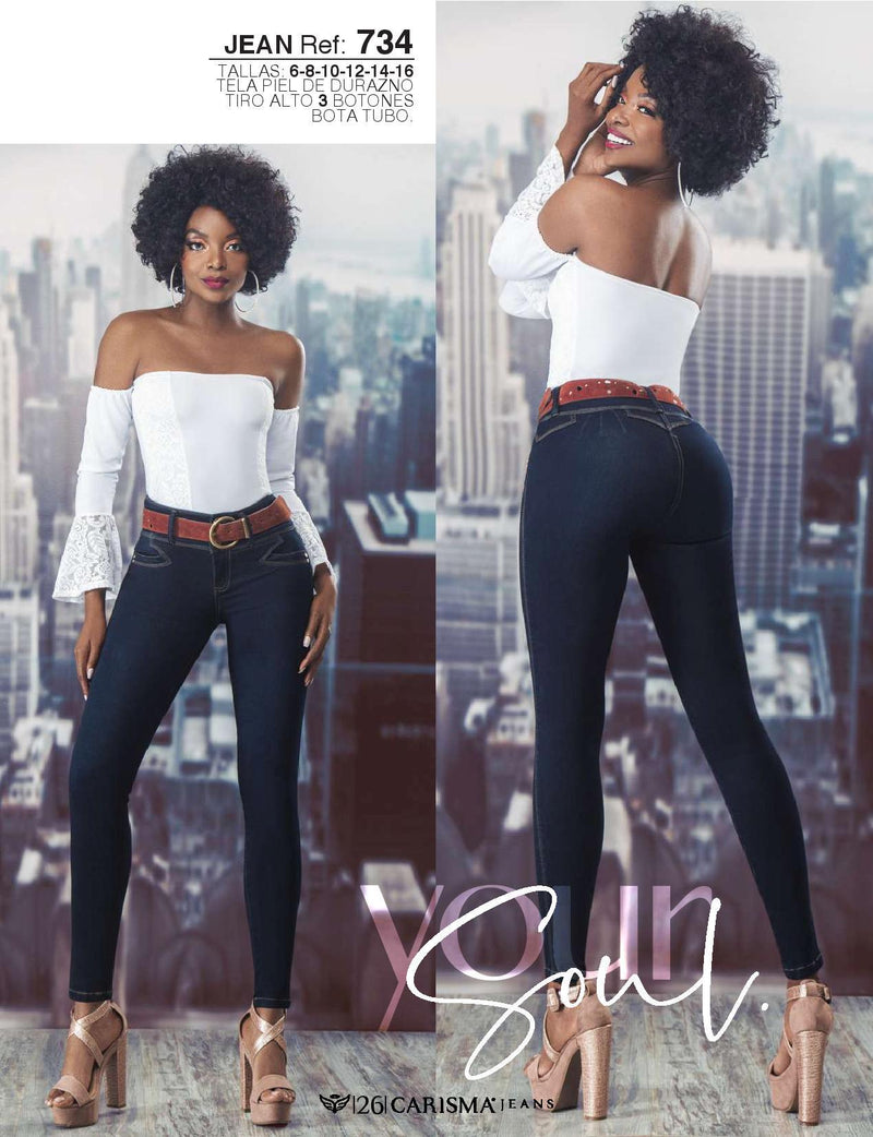 734 100% Authentic Colombian Push Up Jeans by Carisma Jeans - JDColFashion