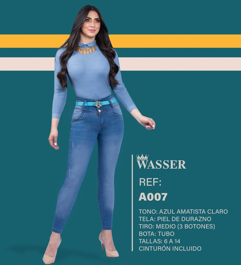 A007 100% Authentic Colombian Push Up Jeans - JDColFashion