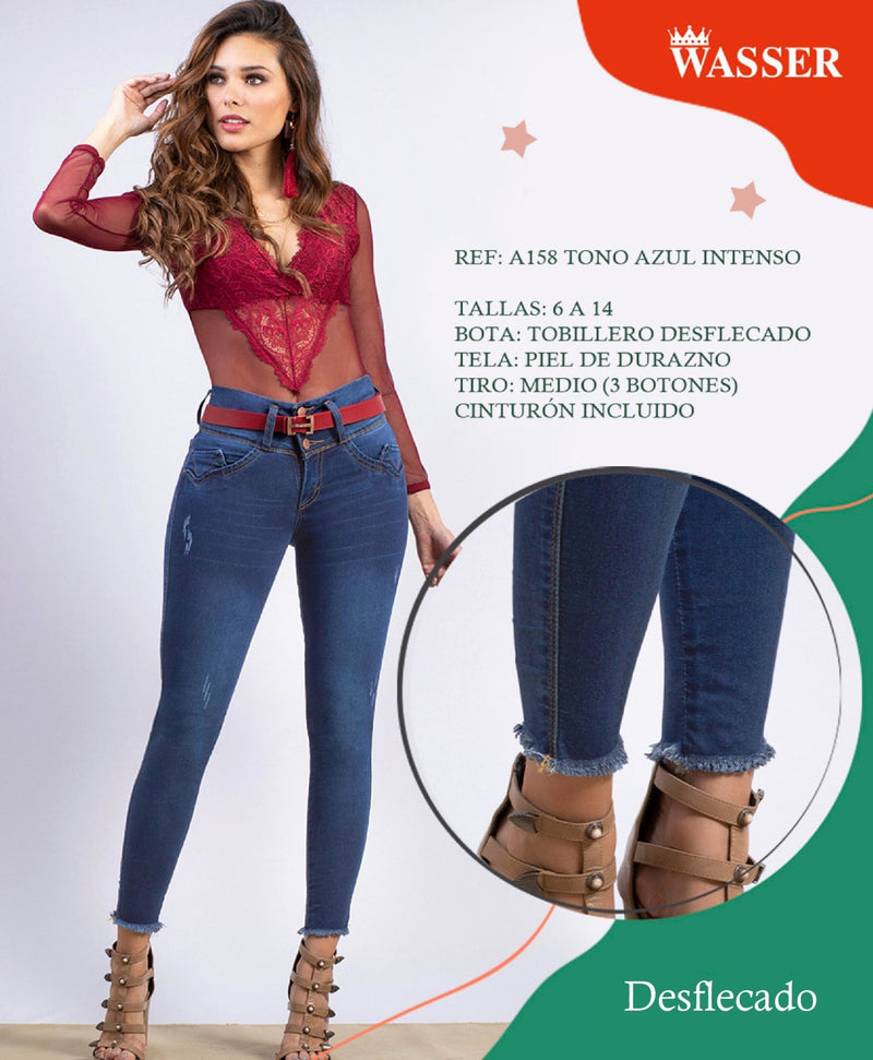 A158 100% Authentic Colombian Push Up Jeans - JDColFashion