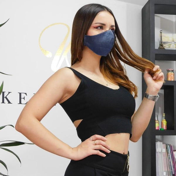 Denim Face Mask Anti-fluid - JDColFashion.com