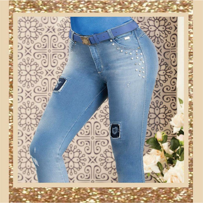 GR153 by Grazzia Jeans 100% Authentic Colombian Push Up Jean - JDColFashion.com