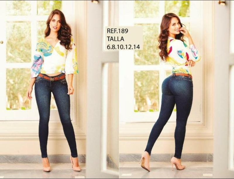 GR189 100% Authentic Colombian Push Up Jean - JDColFashion