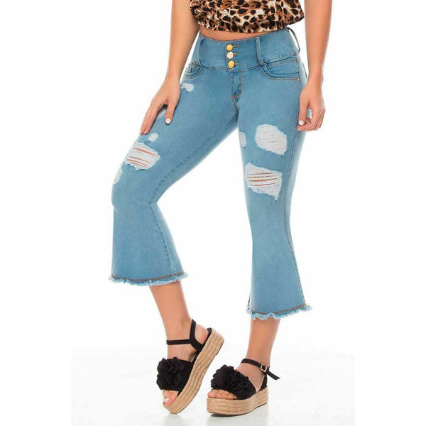 M3814 100% Authentic Colombian Push Up Capris - JDColFashion.com
