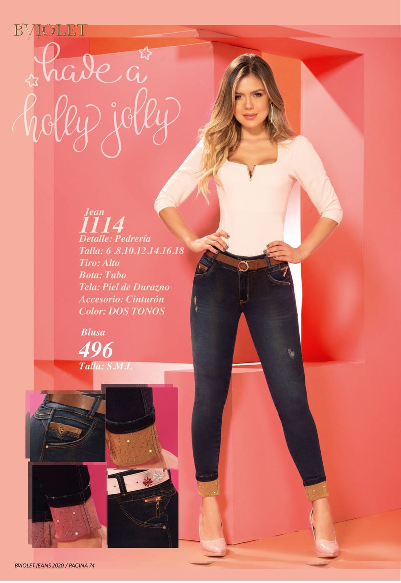 PRE-ORDER 1114 100% Authentic Colombian Push Up Jeans by B'violet - JDColFashion