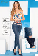 PRE-ORDER 1122 100% Authentic Colombian Push Up Jeans by B'violet - JDColFashion