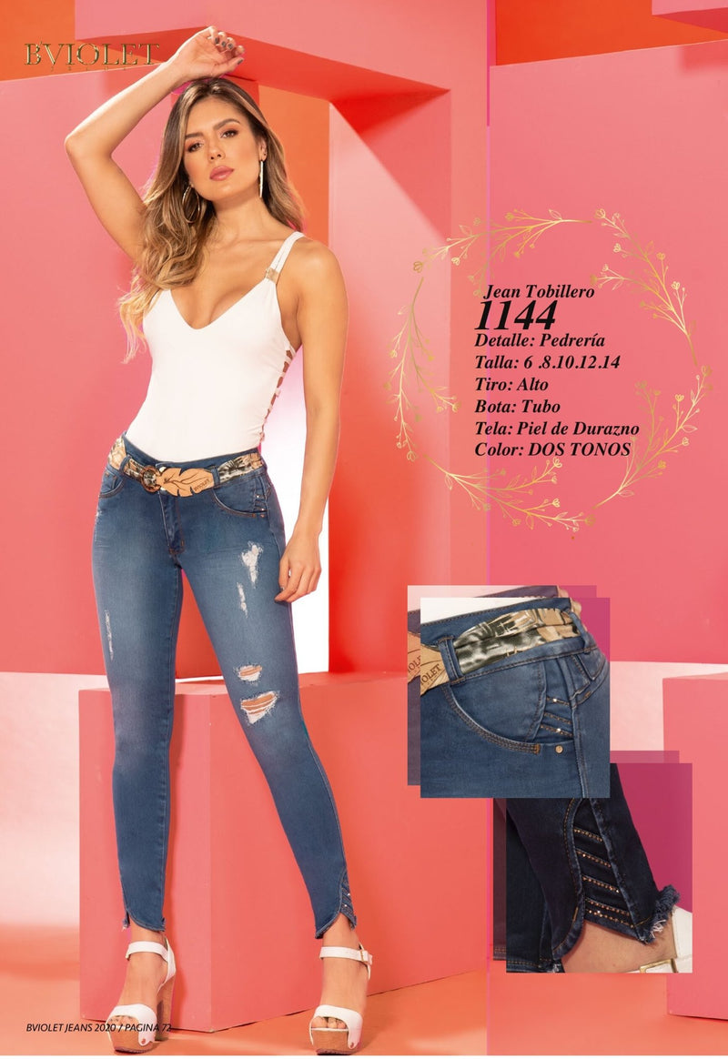 PRE-ORDER 1144 100% Authentic Colombian Push Up Jeans by B'violet - JDColFashion