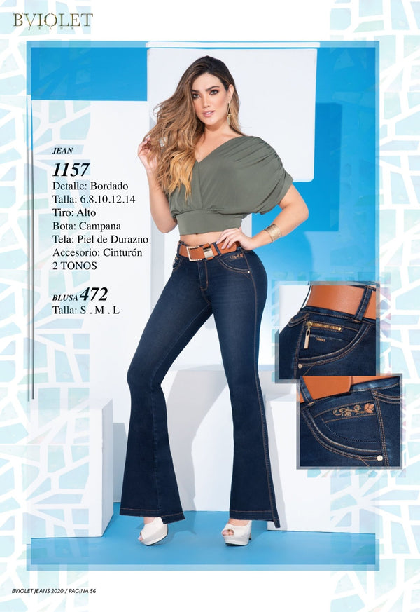 PRE-ORDER 1157 100% Authentic Colombian Push Up Jeans by B'violet - JDColFashion
