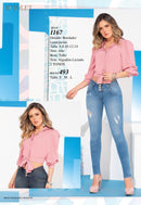 PRE-ORDER 1167100% Authentic Colombian Push Up Jeans by B'violet - JDColFashion