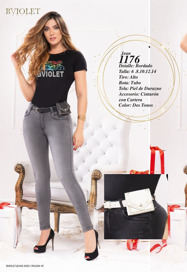 PRE-ORDER 1176 100% Authentic Colombian Push Up Jeans by B'violet - JDColFashion