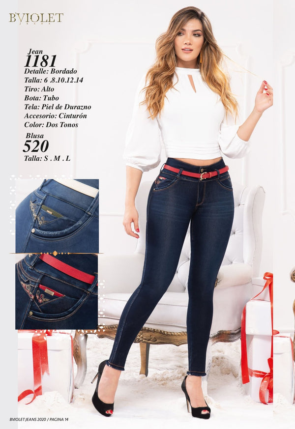 PRE-ORDER 1181 100% Authentic Colombian Push Up Jeans by B'violet - JDColFashion