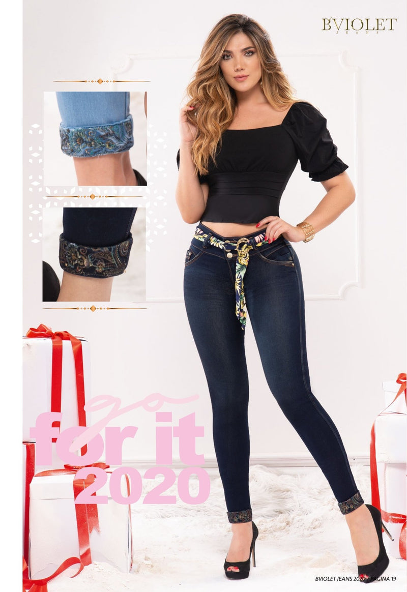 PRE-ORDER 1185 100% Authentic Colombian Push Up Jeans by B'violet - JDColFashion