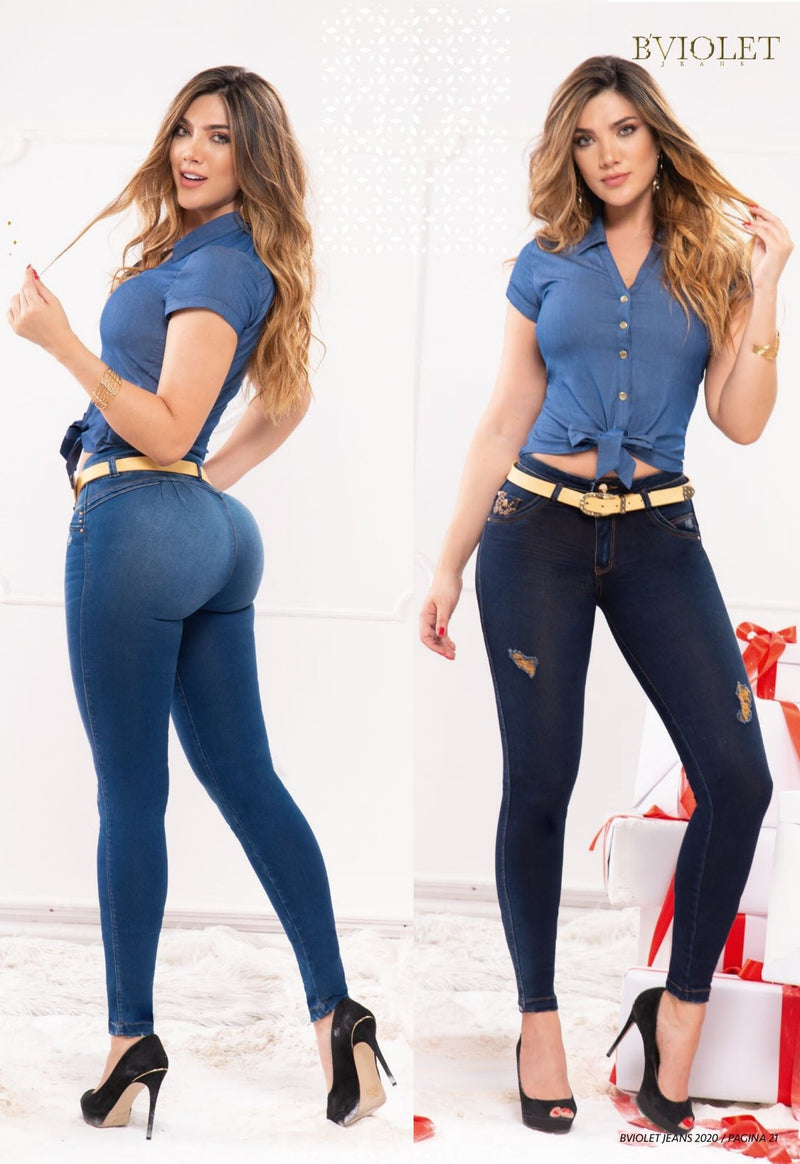 PRE-ORDER 1195 100% Authentic Colombian Push Up Jeans by B'violet - JDColFashion