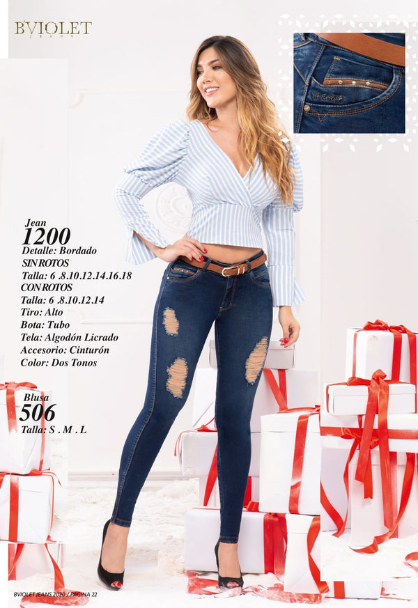 PRE-ORDER 1200 100% Authentic Colombian Push Up Jeans by B'violet - JDColFashion
