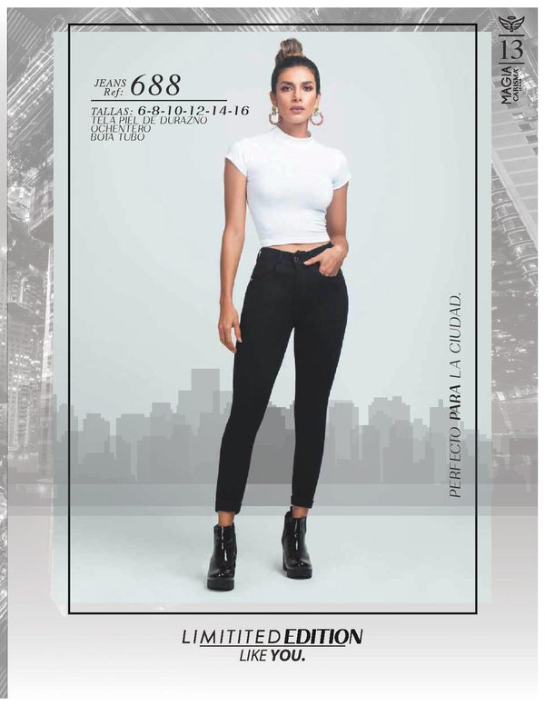 PRE-ORDER 688 100% Authentic Colombian Push Up Jeans by Carisma Jeans - JDColFashion