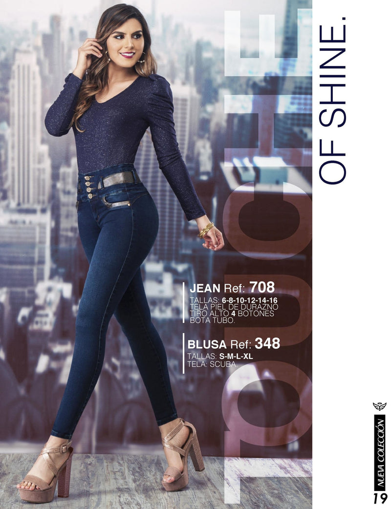 PRE-ORDER 708 100% Authentic Colombian Push Up Jeans by Carisma Jeans - JDColFashion
