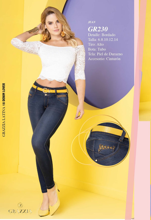 PRE-ORDER GR230 100% Authentic Colombian Push Up Jean - JDColFashion