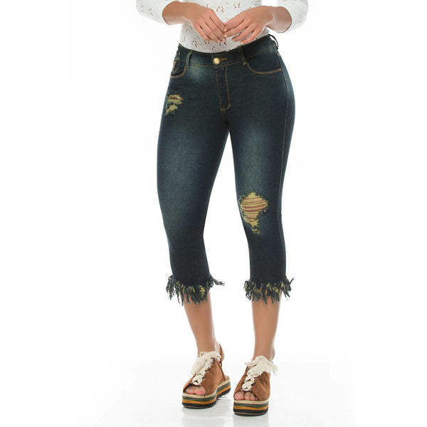 Y0471 100% Authentic Colombian Push Up Capris - JDColFashion.com