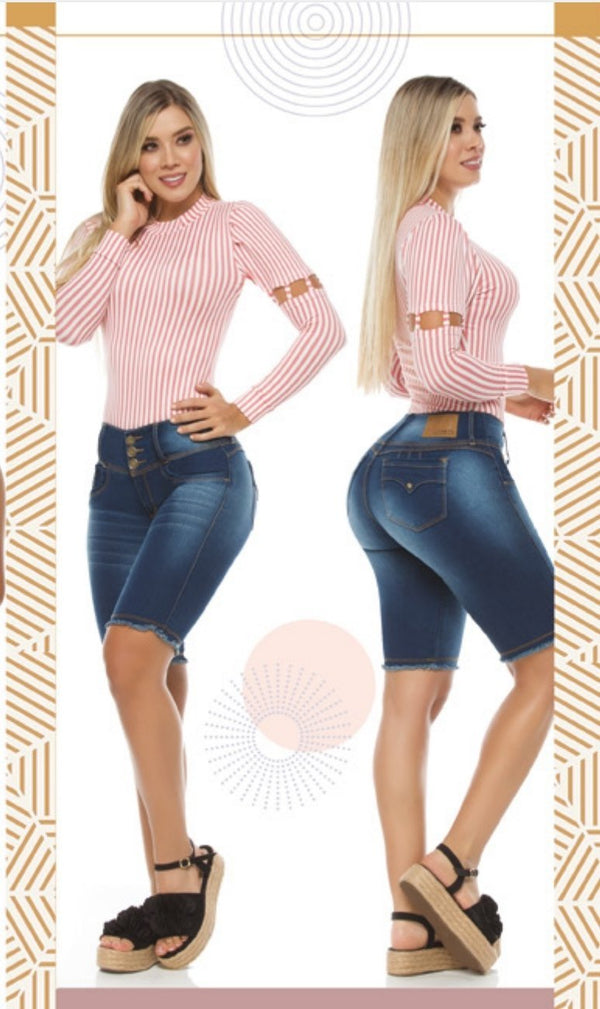 Y0509 100% Authentic Colombian Push Up Capris - JDColFashion.com