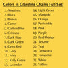 Color List of Glassline Chalks