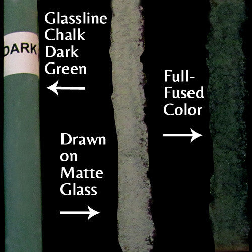 Glassline Chalk Dark Green