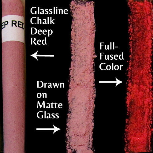 Glassline Chalk Deep Red