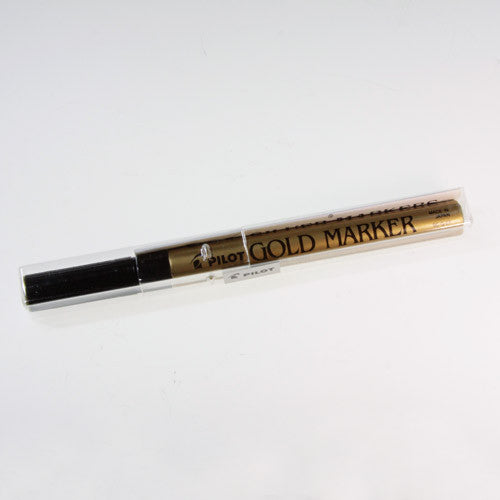 gold metallic marker for glass