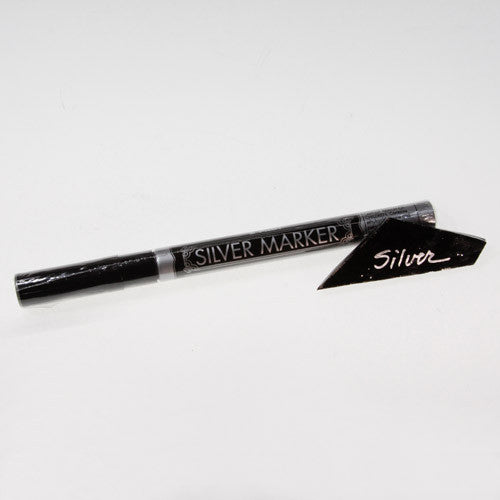 silver metallic marker for glass