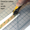 Rotary Cutter slicing Acrylic tape with ease.