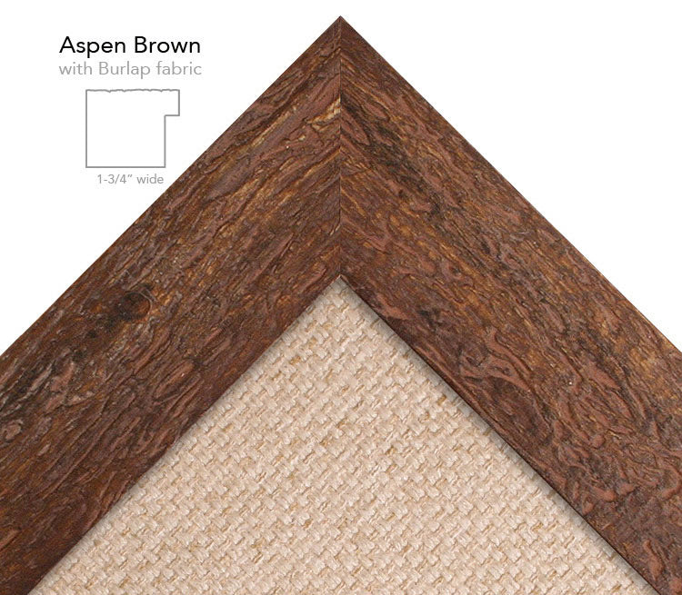 aspen brown burlap