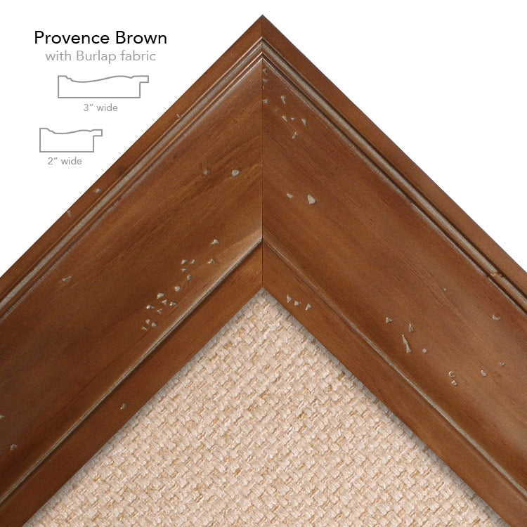 provence brown burlap