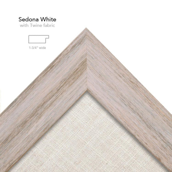 sedona white frame with twine fabric