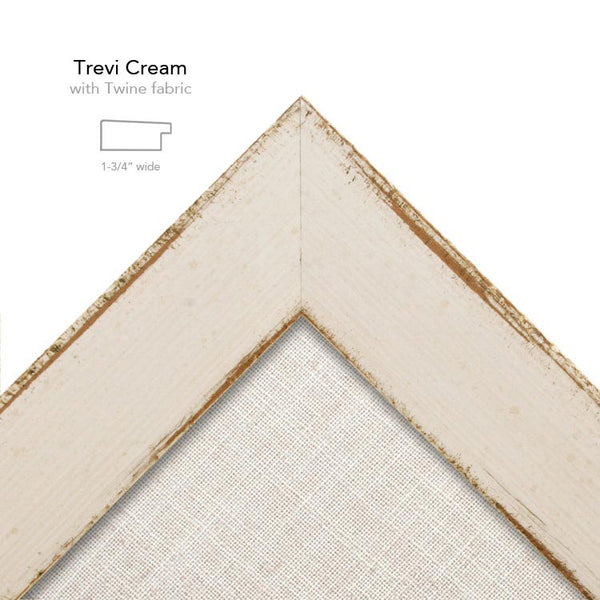 Trevi Cream frame with Twine fabric