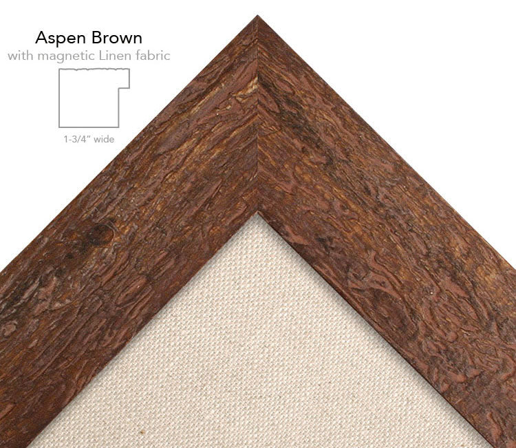 magnetic bulletin board aspen brown + linen