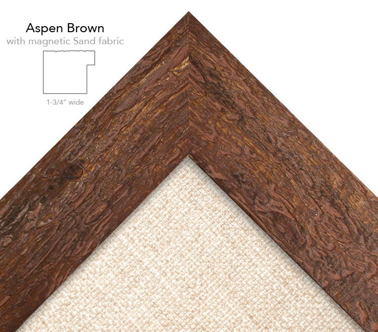 magnetic bulletin board aspen brown + sand