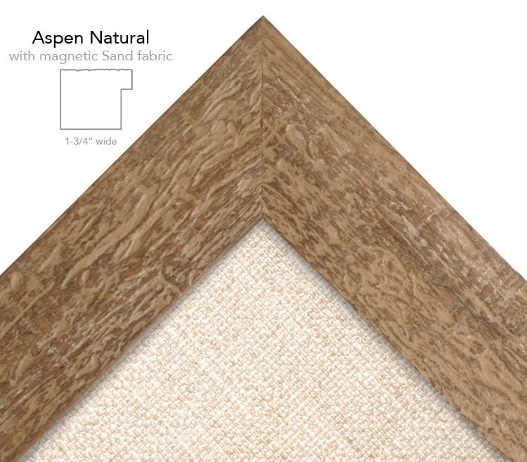 magnetic bulletin board aspen natural + sand