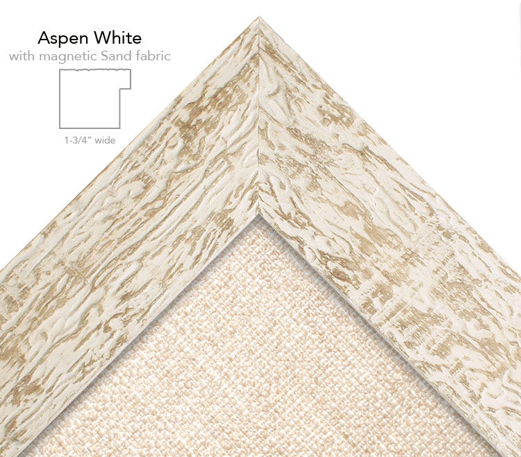 magnetic bulletin board aspen white + sand