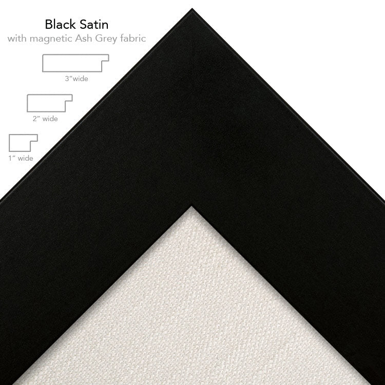 magnetic bulletin board black + ash