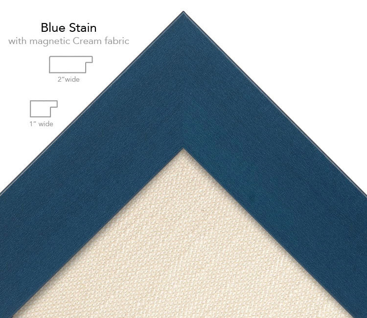 magnetic bulletin board blue+ cream