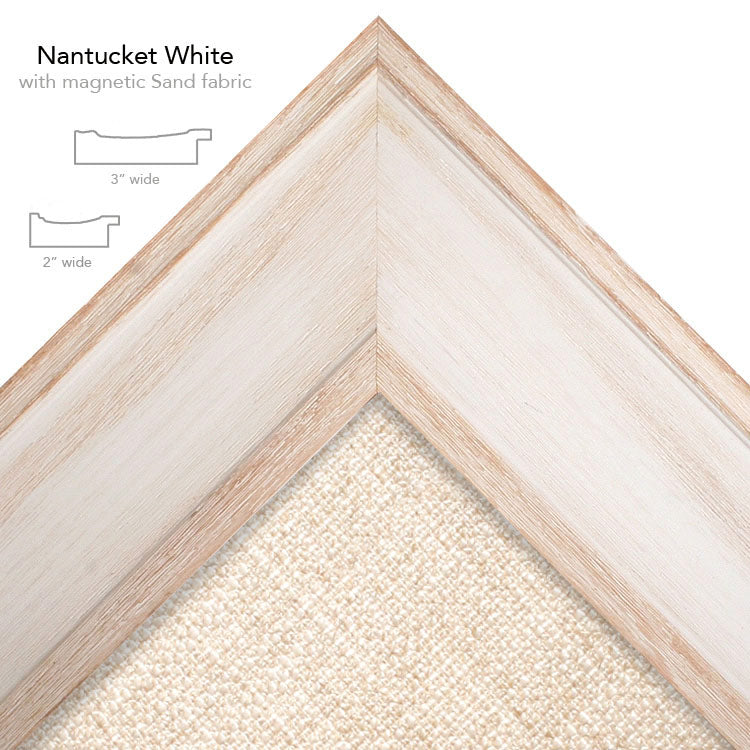 magnetic bulletin board nantucket white + sand